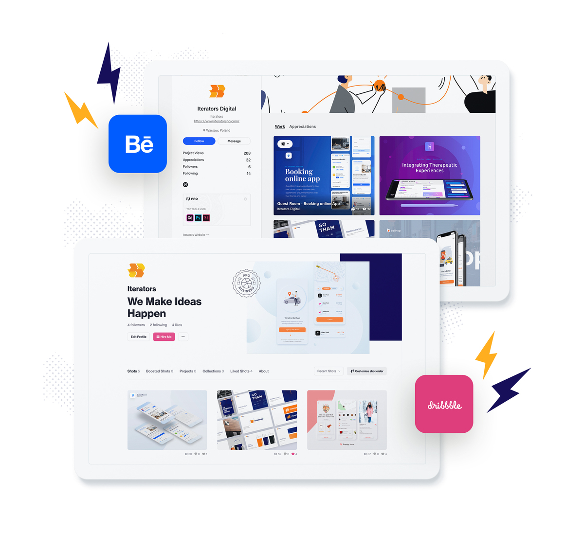 behance app design inspiration
