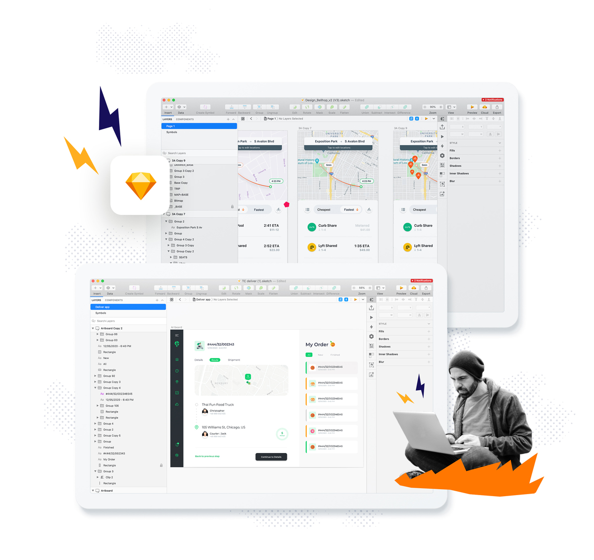 ui app design mockup example