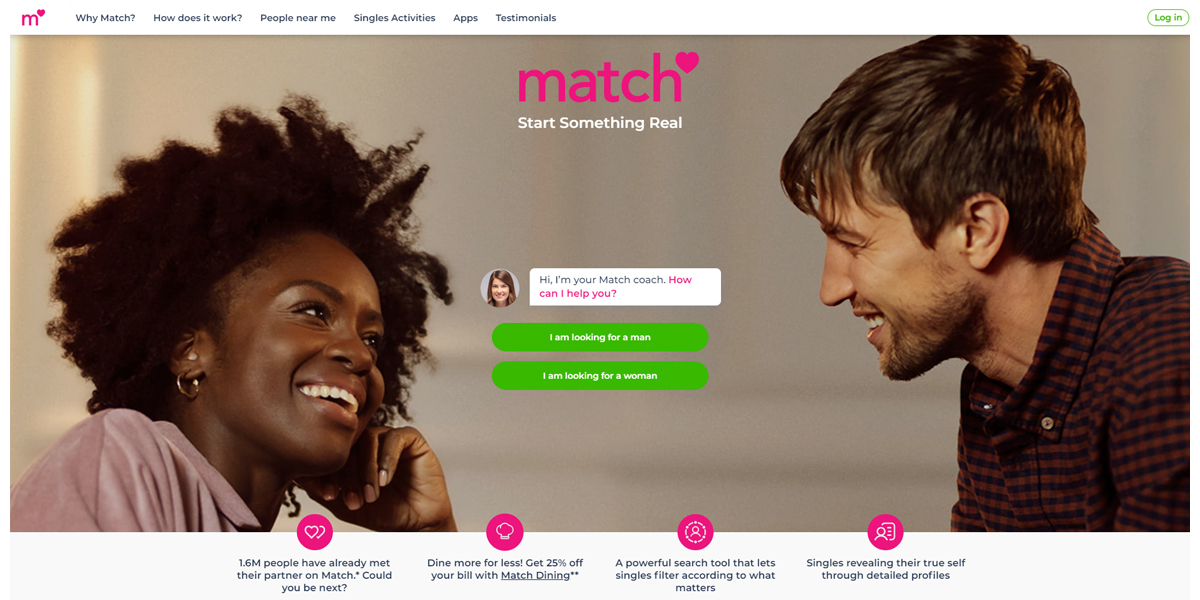 how to create a dating app match example