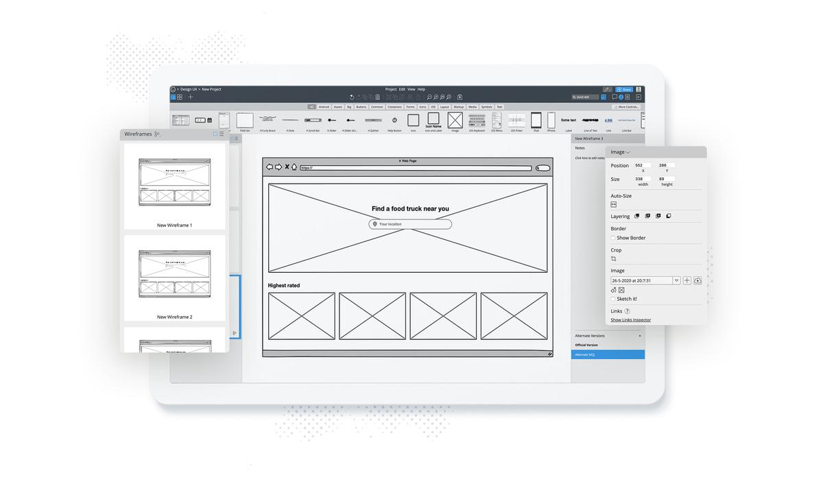 app design software balsamiq example