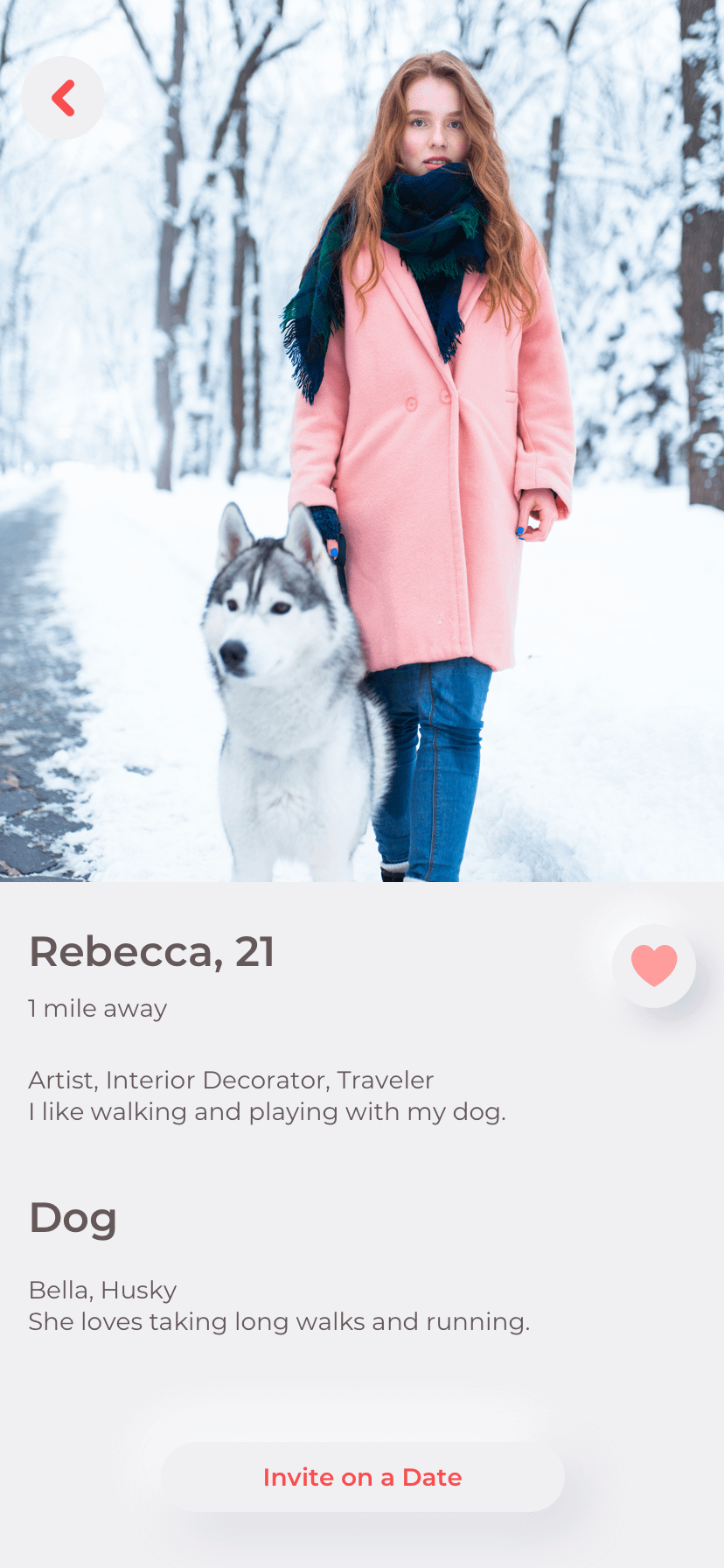 how to create a dating app example of ux design
