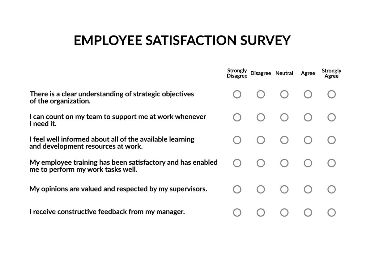 employee training survey