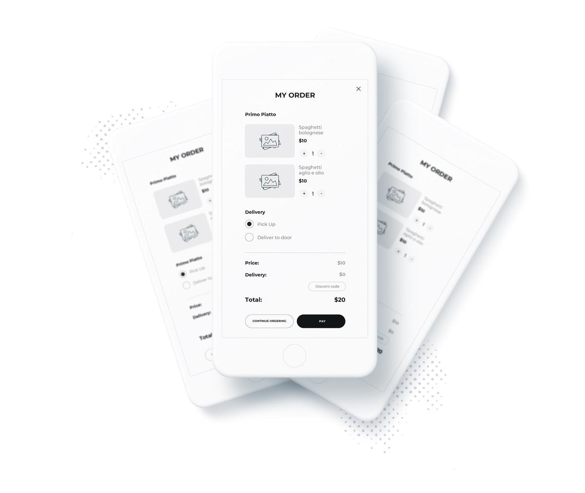 app design templates checkout process