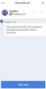 livechat ai assistant example